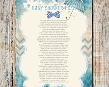 baby shower game instant download shower game baby shower poem