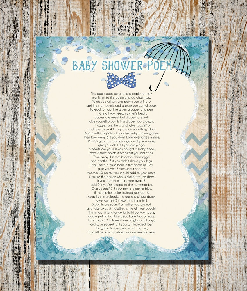 Girl Baby Shower Poems: Baby Shower Games Printable Baby Shower Game Instant