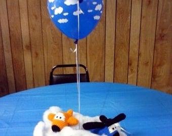 Crochet Baby Airplane Rattle
