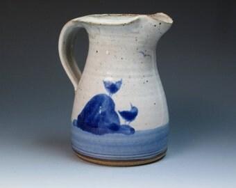 Robert Fishman Signed Hand Thrown Studio Pottery Jug, Leach Apprentice, St Ives, Bernard Leach