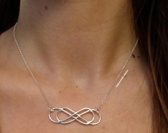 Double infinity necklace, infinite, love / Silver 925/000 / solid silver necklace 925 - Necklace silver sterling 925 - infinity