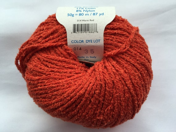 Cool Sculpting Machine Distributor >> BAMBOUCLE WARM RED 014 Yarn by Elsebeth Lavold / Knitting Fever Inc./Cotton Bamboo Linen Nylon ...
