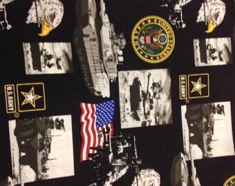 Dog bandana, US Army, Air Force, Marines