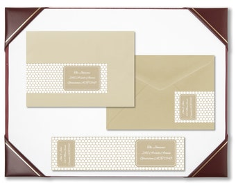 Envelope wraps craft honeycomb wraparound address labels personalised labels invitations wedding engagement bridal shower baby shower
