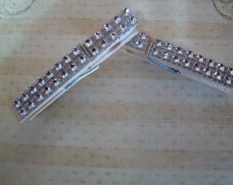 Bling Bling Decorated clothespins 4 Pack