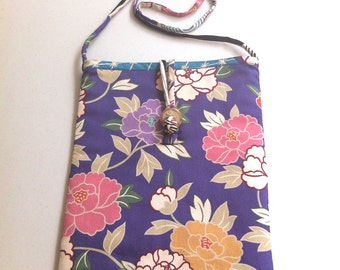 Shoulder Pouch  In Japanese Fabric