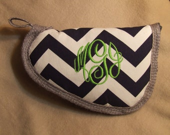 Navy chevron pistol case - Monogrammed Gun Case - Other sizes and colors available!