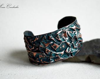 Beauty gift Bracelet, cuff bracelet, wrist, bangle, copper jewelry, Jewelry, Sheet copper, Boho