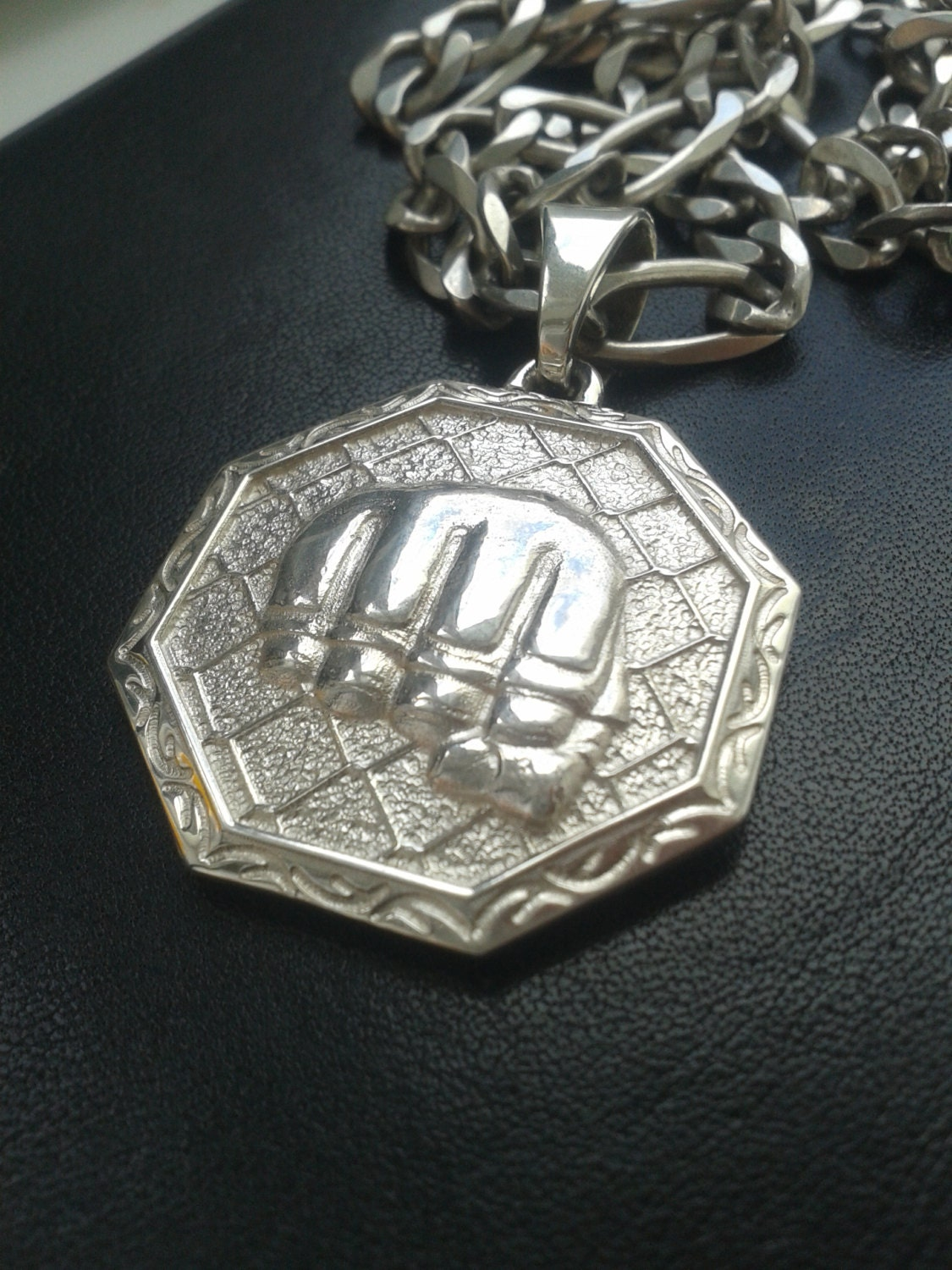 mixed martial arts mma silver pendant jewelry charm by