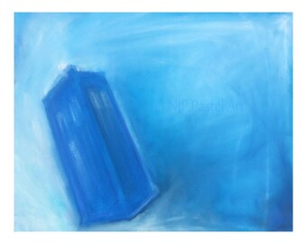 Blue Box - Limited Edition Print,  from Dr Who Inspired pastel original