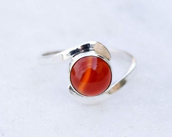Carnelian ring ,Carnelian Stone  ring , silver ring, silver  ring,925 sterling silver ring ,special ring, silver stone ring,RNSLCR3