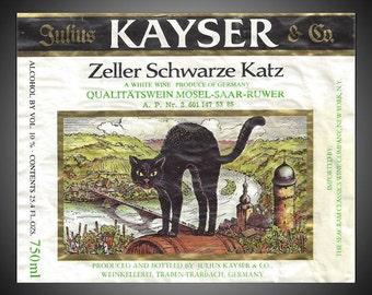 Julius Kayser 1970s German Wine Label