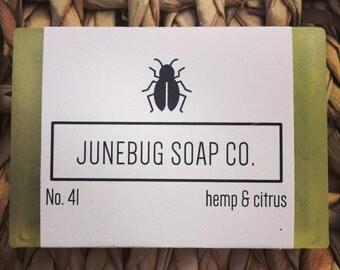3 PACK: Hemp & Citrus Bar Soap - Natural Soap, Citrus Soap, Hemp Soap, Handmade Soap, Bar Soap, Herbal Soap, Homemade Soap, Sulfate Free