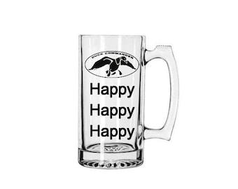 "Duck Dynasty 27 oz Sports Mug ""Happy Happy Happy"" Duck Commander - Wedding, Man Cave, Groom, Bachelor Gift, Custom Sports Mug, Gift for Men"