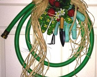 Strawberry Motif Garden Hose Wreath