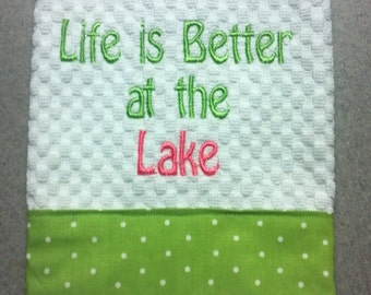 Life is Better at the Lake Hand Towel