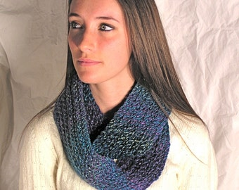 Multi-colored Stripped Infinity Scarf