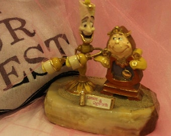 Disney Ron Lee Beauty & Beast Lumiere Cogsworth Limited Edition 1416/2950 Figurine