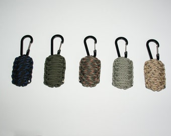 Paracord Survival Kit, Emergency Kits, 5 colors, outdoor, keychain, fathersday, gift for him