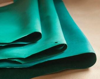 Light Green Goat Craft Leather - Vegetable Tanned & Aniline Dyed