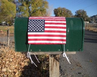 American flag rural mail box cover