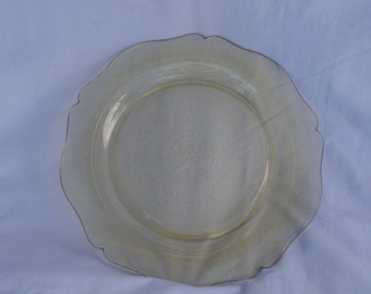 Federal Glass Amber Patrician Spoke 11 inch plate