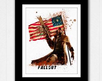 Fallout Vegas Watercolor Painting