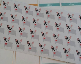 French Bulldog Stickers! Dog Stickers! Perfect for your Erin Condren Life Planner, calendar, Paper Plum, Filofax!