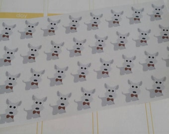 Westie Stickers! Dog Stickers! Perfect for your Erin Condren Life Planner, calendar, Paper Plum, Filofax!