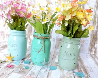 Popular items for beach mason jars on etsy for Anchor decoration runescape