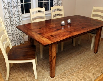 Country Farmer's Dining Table
