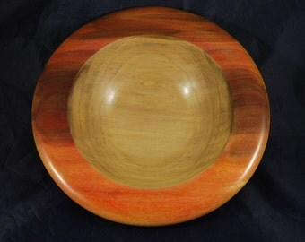 Sunset Colored Rim Tulip Poplar Bowl
