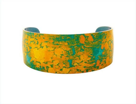 Water Lily Gold Bangle/Cuff/Jewelry/Fashion Jewellery - available for immediate shipping