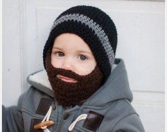 Crochet Beard Hat with detachable beard - Baby beard hat - Lumberjack hat - Baby boy hat - Beard hat - Hat with Beard - Beard beanie