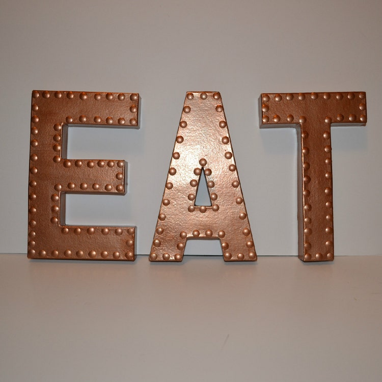 Kitchen Wall Decor Eat Sign Eat letters by EllaMurphyDesigns