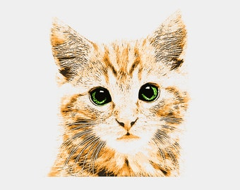 Kitten With Green Eyes   - Bodysuit or T-Shirt