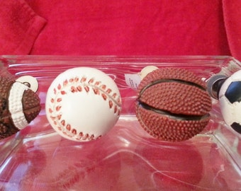 New Set 4 mixed set Baseball Soccer Football Basketball SPORTS Game Knobs Pulls Hardware