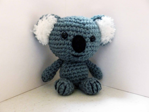 Koala Amigurumi Nose : Amigurumi Koala Handmade Crocheted Koala Koala by HnHKeepsakes