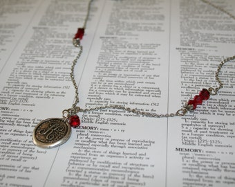 Monogram Birthstone Necklace