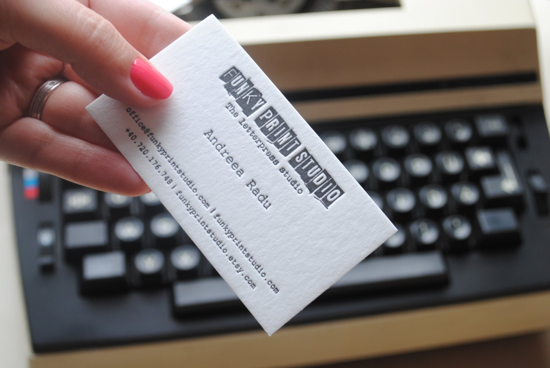 200 custom letterpress business cards by funkyprintstudio for 200 business cards