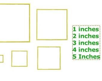 Square Applique Design, Machine Applique Design Basic Shapes Square Applique 5 Sizes