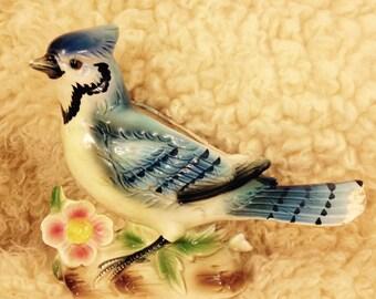 BLUE JAY PLANTER - Vintage Ceramic