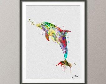 dolphin art dolphin print dolphin poster dolphin decor dolphin watercolor poster dolphin watercolor print dolphin painting dolphin wall A128