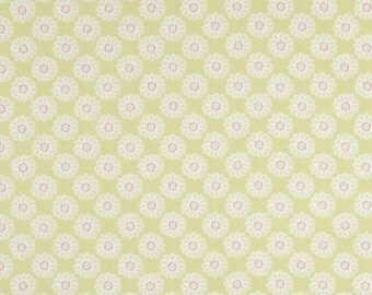 Clarke and Clarke Lime Daisy Designer Curtain Upholstery Fabric
