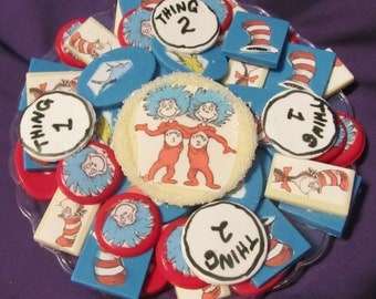 Seuss Cat in the Hat Thing 1 & 2 chocolates candy tray