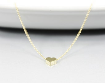 Tiny Heart Charm Necklace  Dainty Necklace Simple and Modern Necklace Gift for Best Friends
