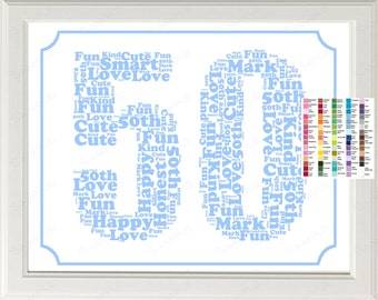 ... 50th Birthday Gift 8 x 10 Fifty Birthday Print Birthday Gift Ideas