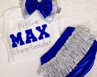 Future Cheerleader Onesie & Ruffle Bloomer Set