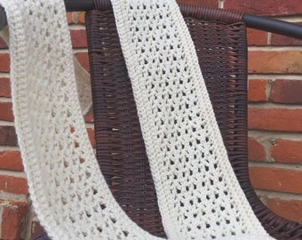 White Cowl Infinity Scarf