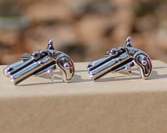 Western Gun Pistol Cufflinks